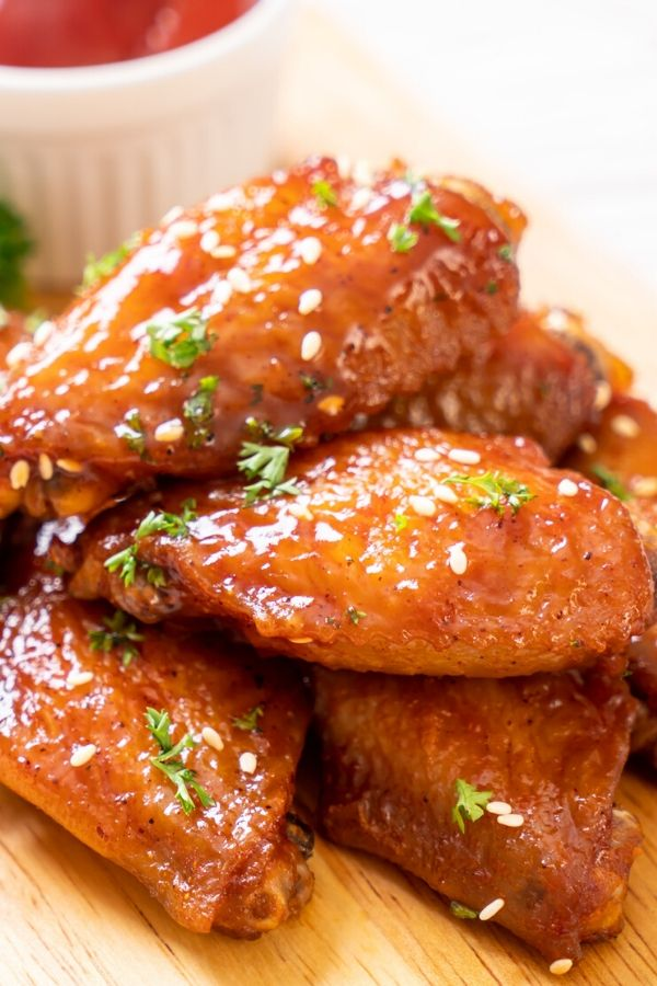 Baked Chicken Wings Recipe In Bbq Sauce And Honey Delicrunch Recipes